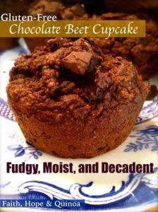 Beet cupcake